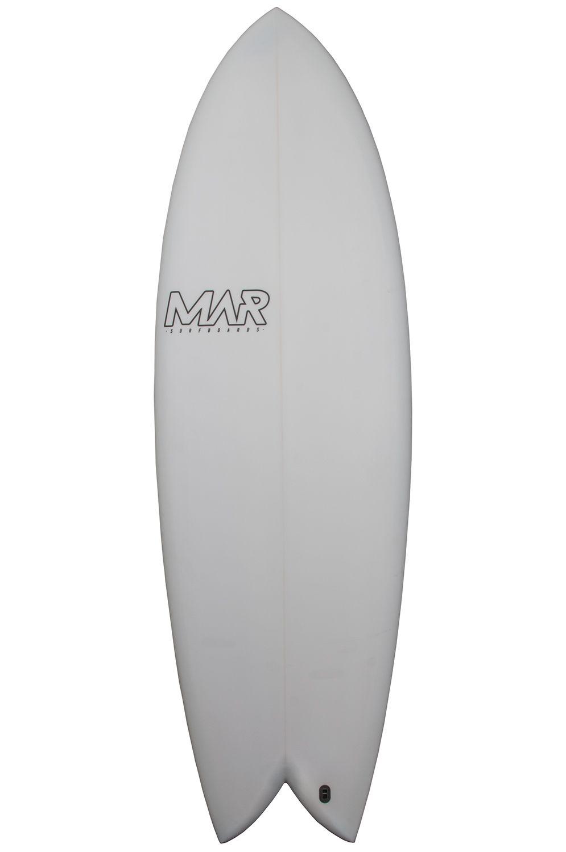 Mar Surf Board 5'10 THE 2 BLUE PU Fish Tail - Color FCS II Twin Tab 5ft10