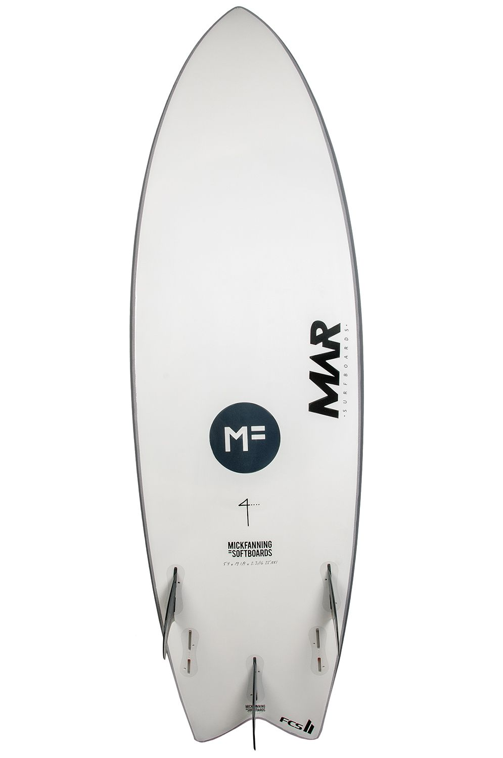 Prancha Surf Mar MICK FANNING THE 4 GREY 5'10 Fish Tail - Color FCS II Multisystem 5ft10