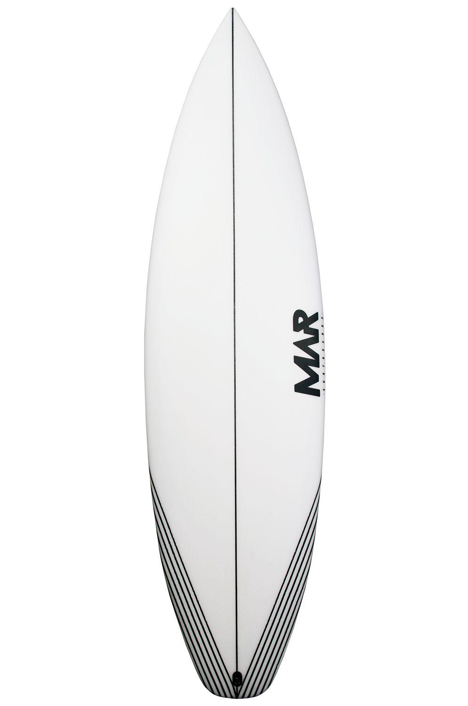 Mar Surf Board 5'7 CAPTAIN Squash Tail - White FCS II 5ft7