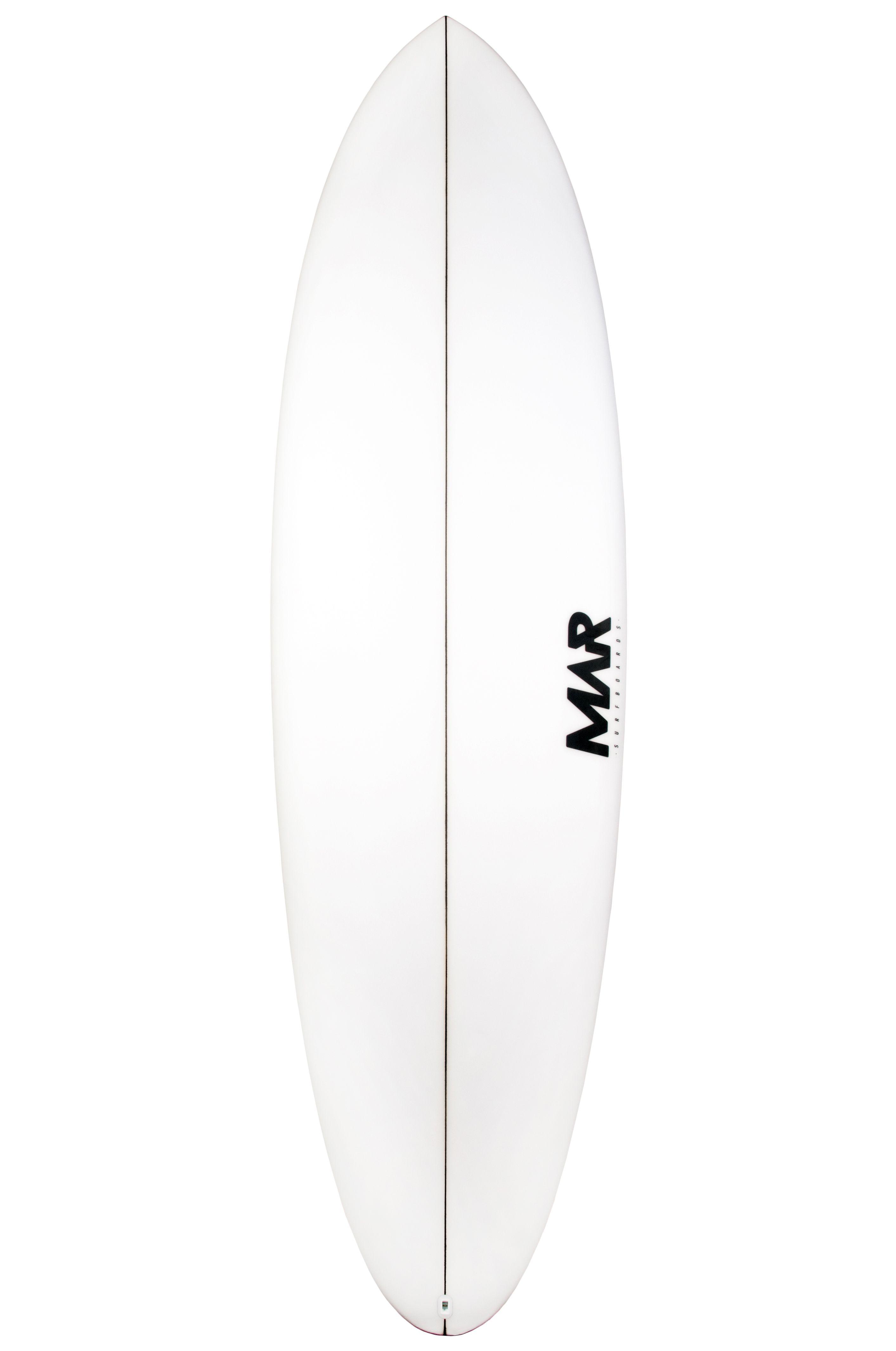 Mar Surf Board 6'3 MAR MID PU Fish Tail - White FCS II Multisystem 6ft3