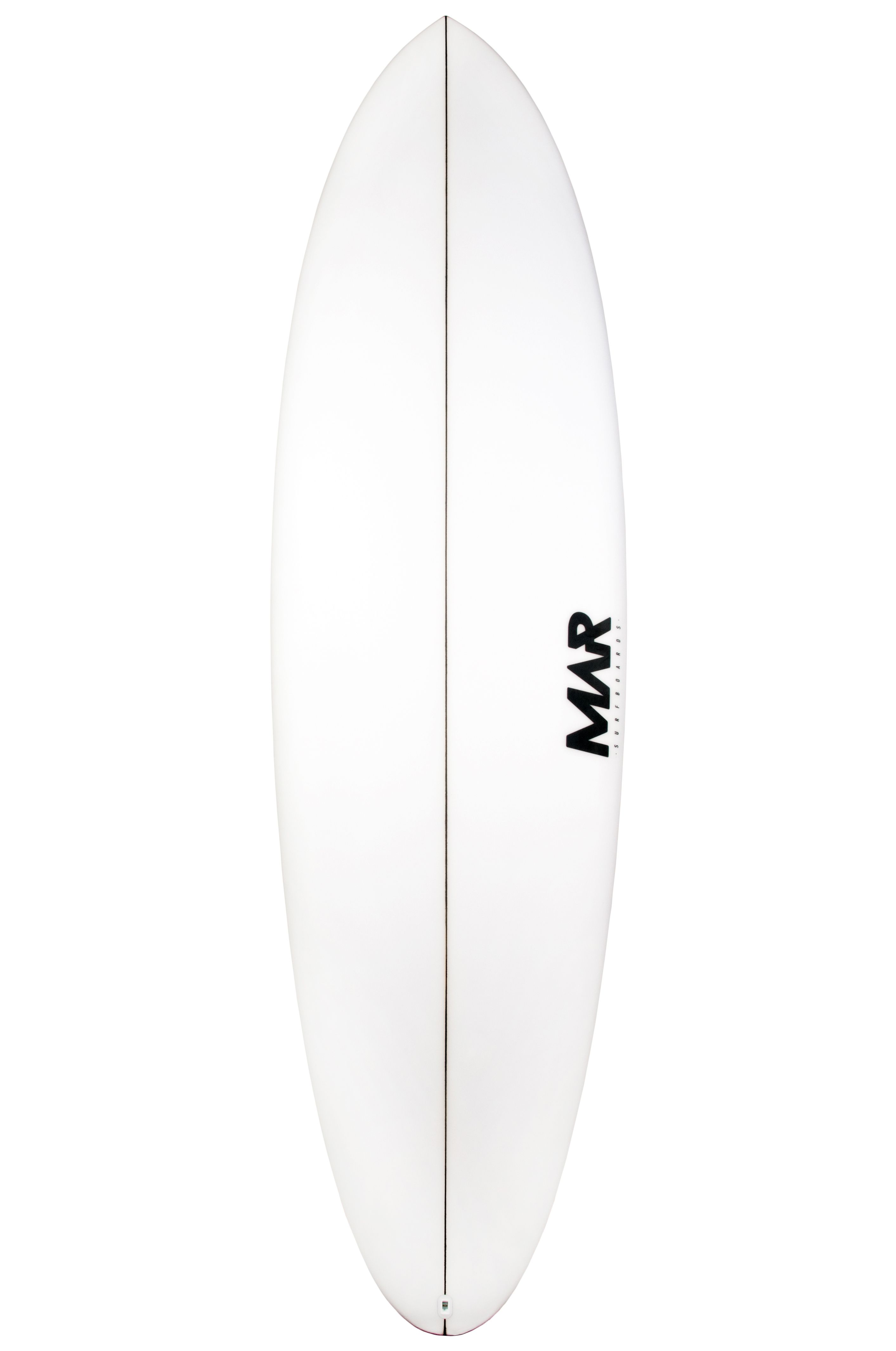 Mar Surf Board 7'2 MAR MID PU Round Pin Tail - White FCS II Multisystem 7ft2