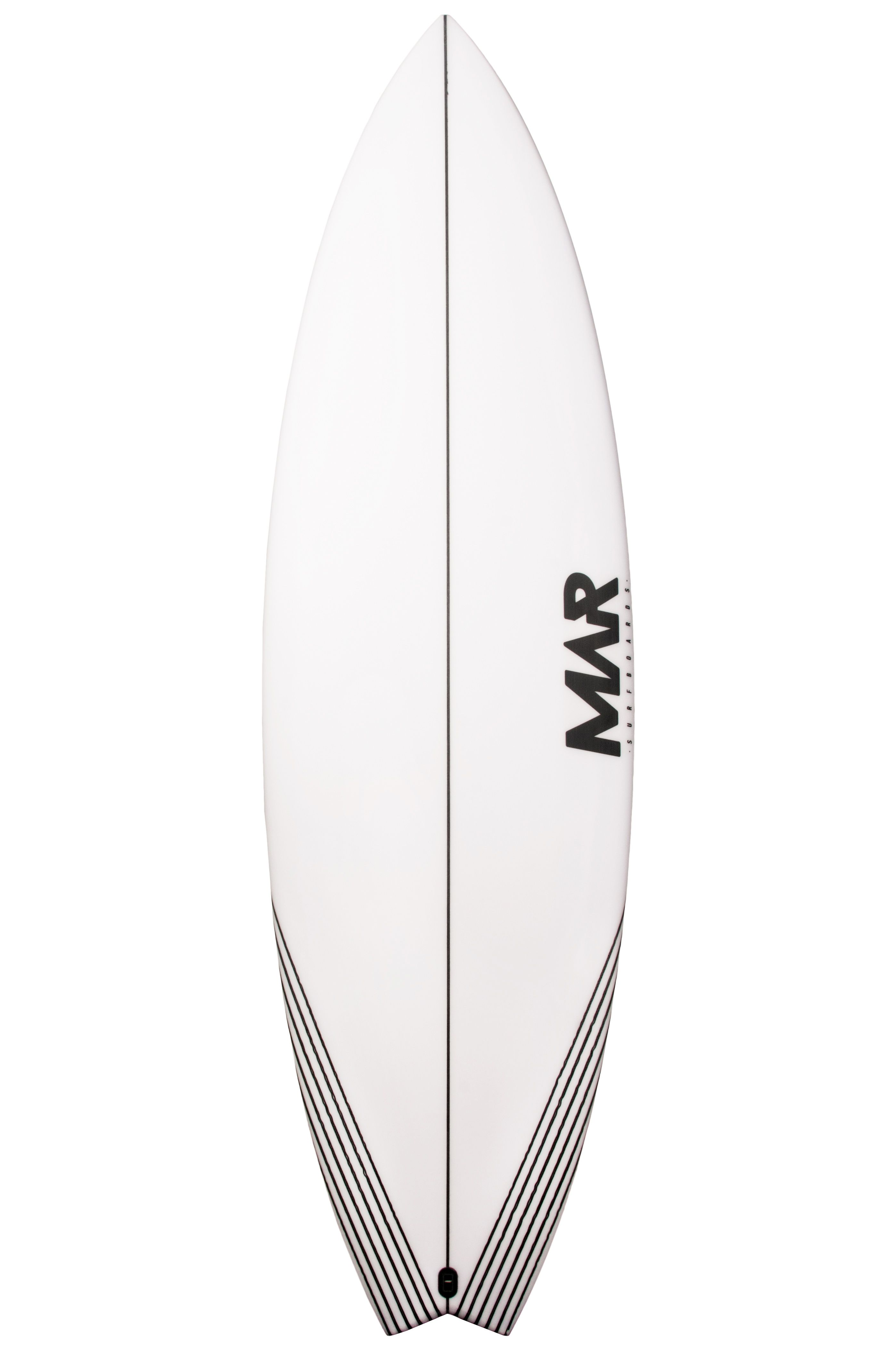 Mar Surf Board 6'1 PARROT PU Swallow Tail - White FCS II 6ft1