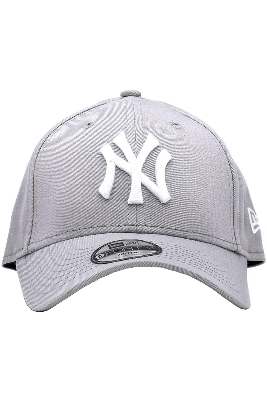 Bone New Era K 940 MLB LEAGUE BASIC NEYYAN GREY/WHT New York Yankees