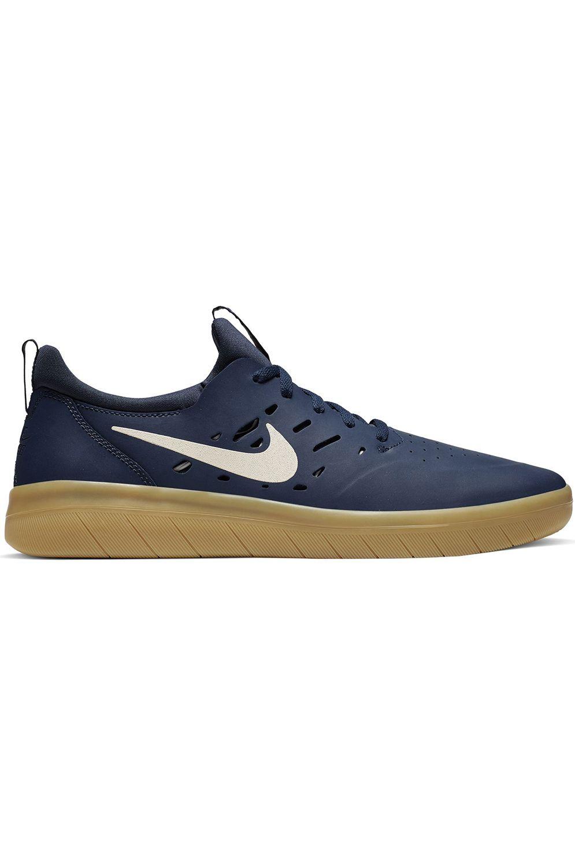 Nike Sb Shoes NYJAH FREE Midnight Navy/Summit White-Midnight Navy-Gum Lt Brown