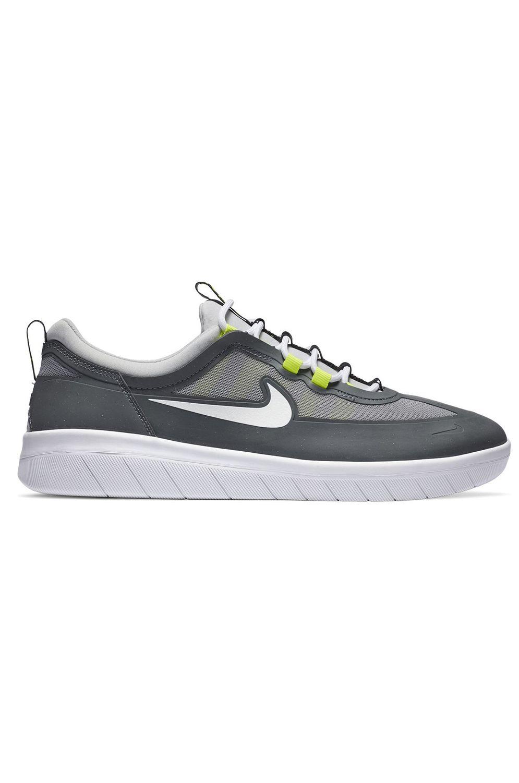 Nike Sb Shoes NYJAH FREE 2 Smoke Grey/White-Lt Smoke Grey