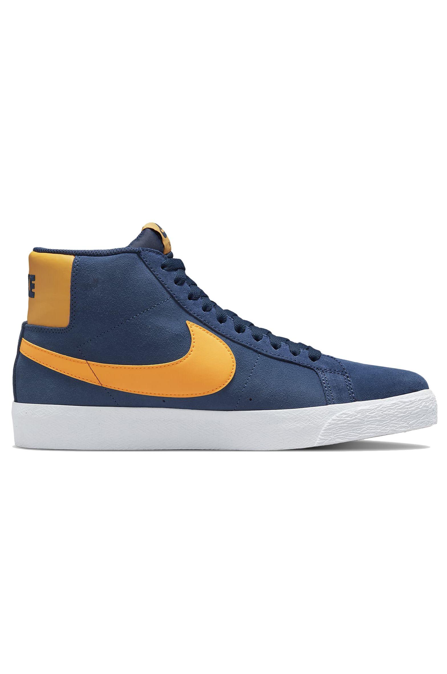 Nike Sb Shoes ZOOM BLAZER MID Navy/University Gold-Navy-White