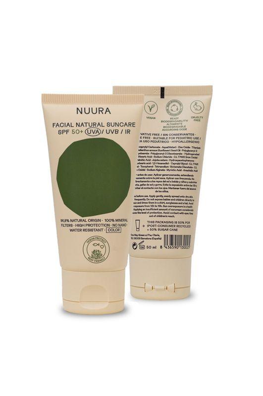 Nuura Sunscreen FACIAL NATURAL SUNCARE SPF 50+ COLOR 50ML Assorted