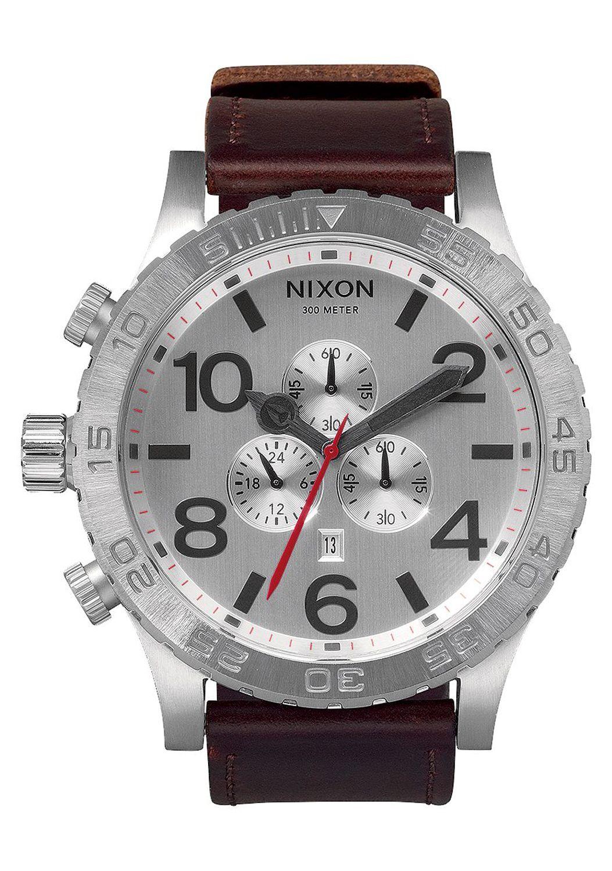Relogio Nixon 51-30 CHRONO LEATHER Silver/Brown