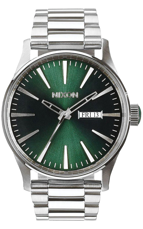 Relogio Nixon SENTRY SS Green Sunray
