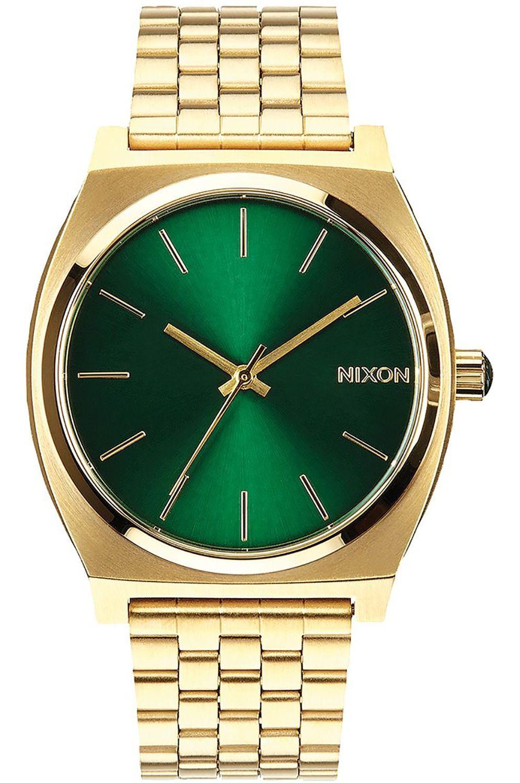Relogio Nixon TIME TELLER Gold/Green Sunray