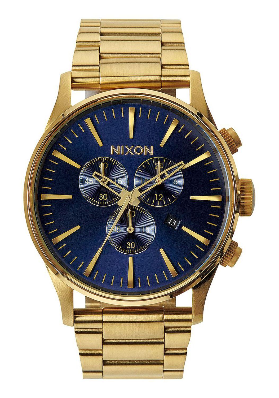 Relogio Nixon SENTRY CHRONO Gold/Blue Sunray