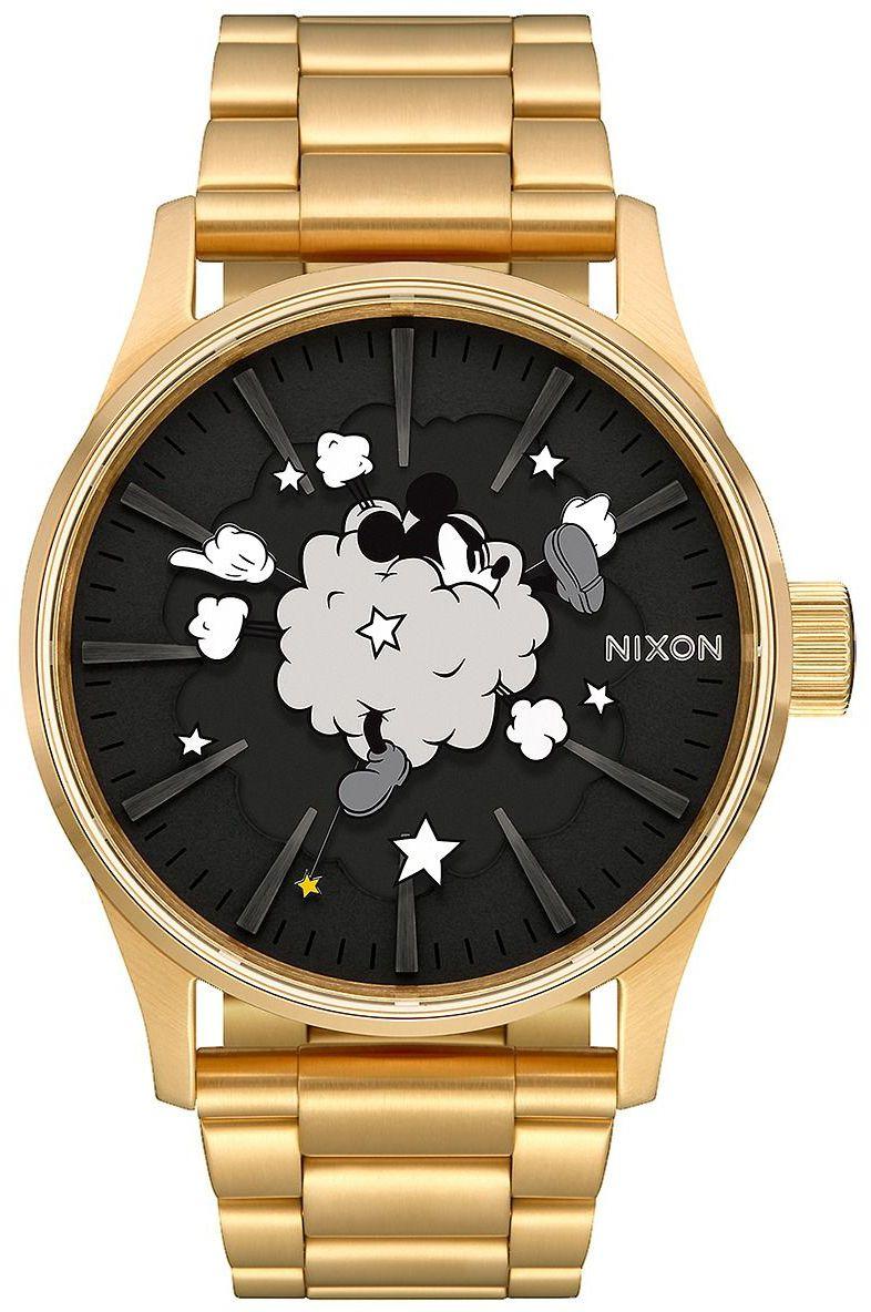 Relogio Nixon SENTRY SS MICKEY Gold/Black/Fight Cloud