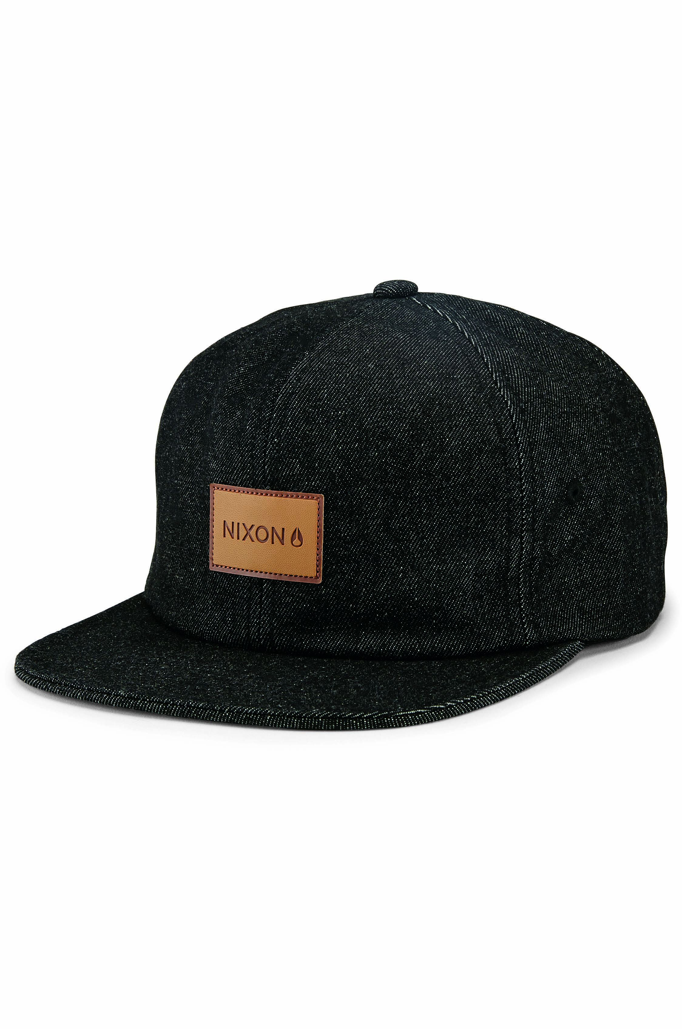 Bone Nixon MASON STRAP BACK Black