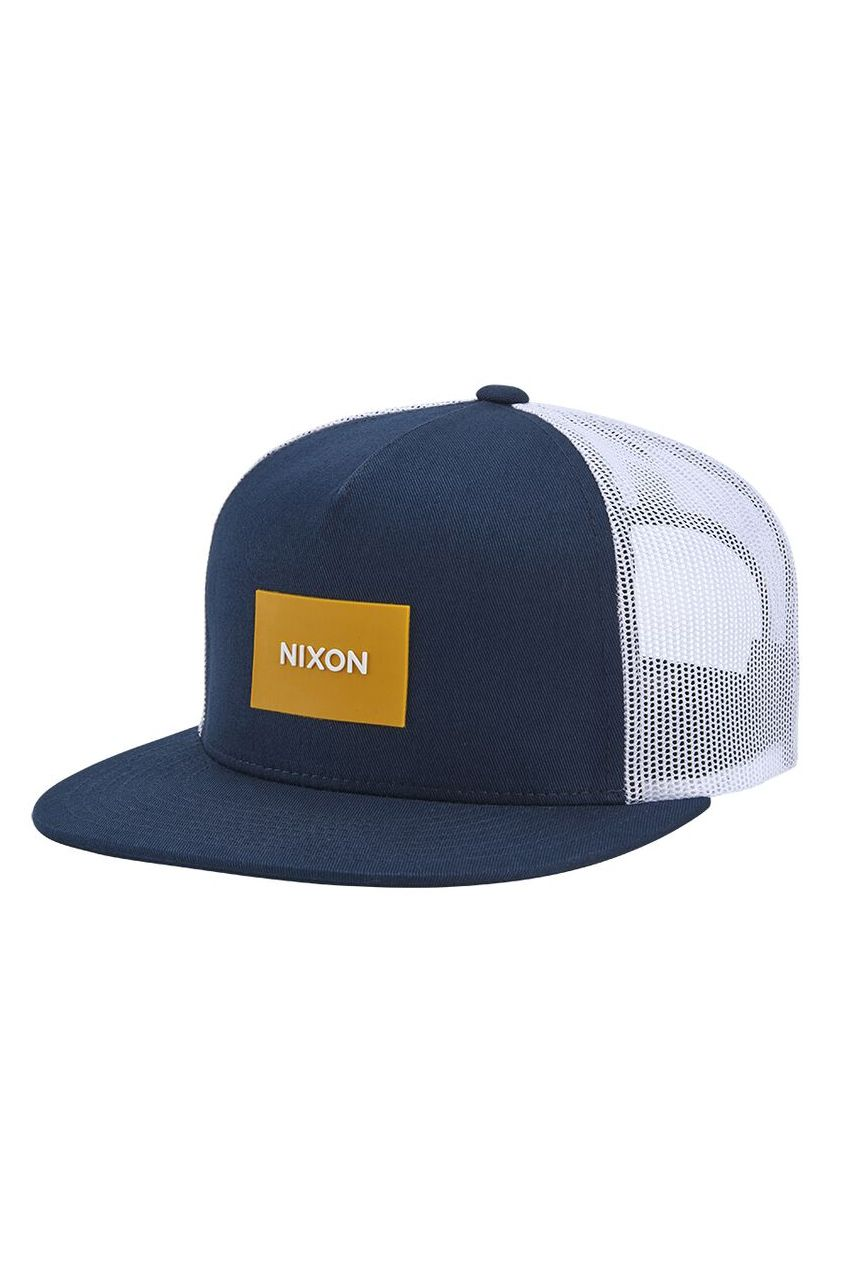 Bone Nixon TEAM TRUCKER HAT Midnight Blue/Dark Yellow