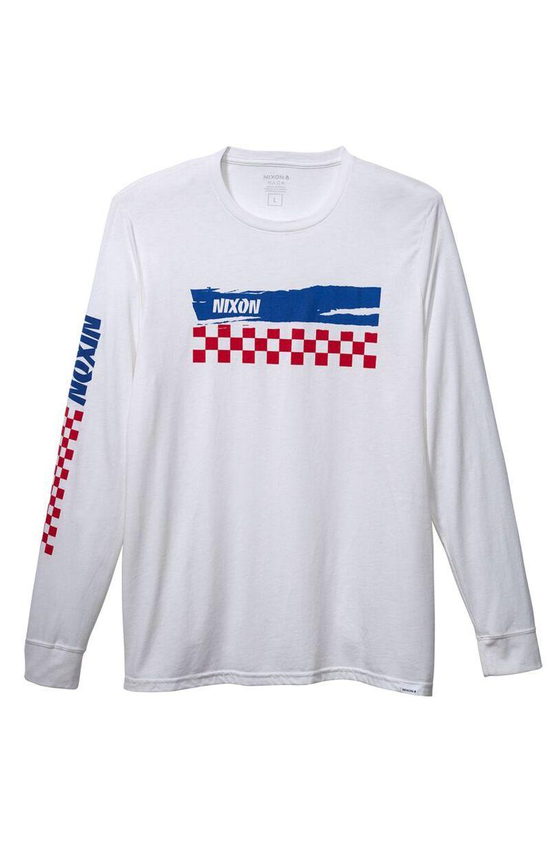 Nixon L-Sleeve CIRCUIT L/S TEE White/Navy