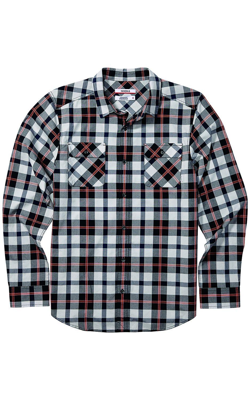 Camisa Nixon Echo L/S Light Gray