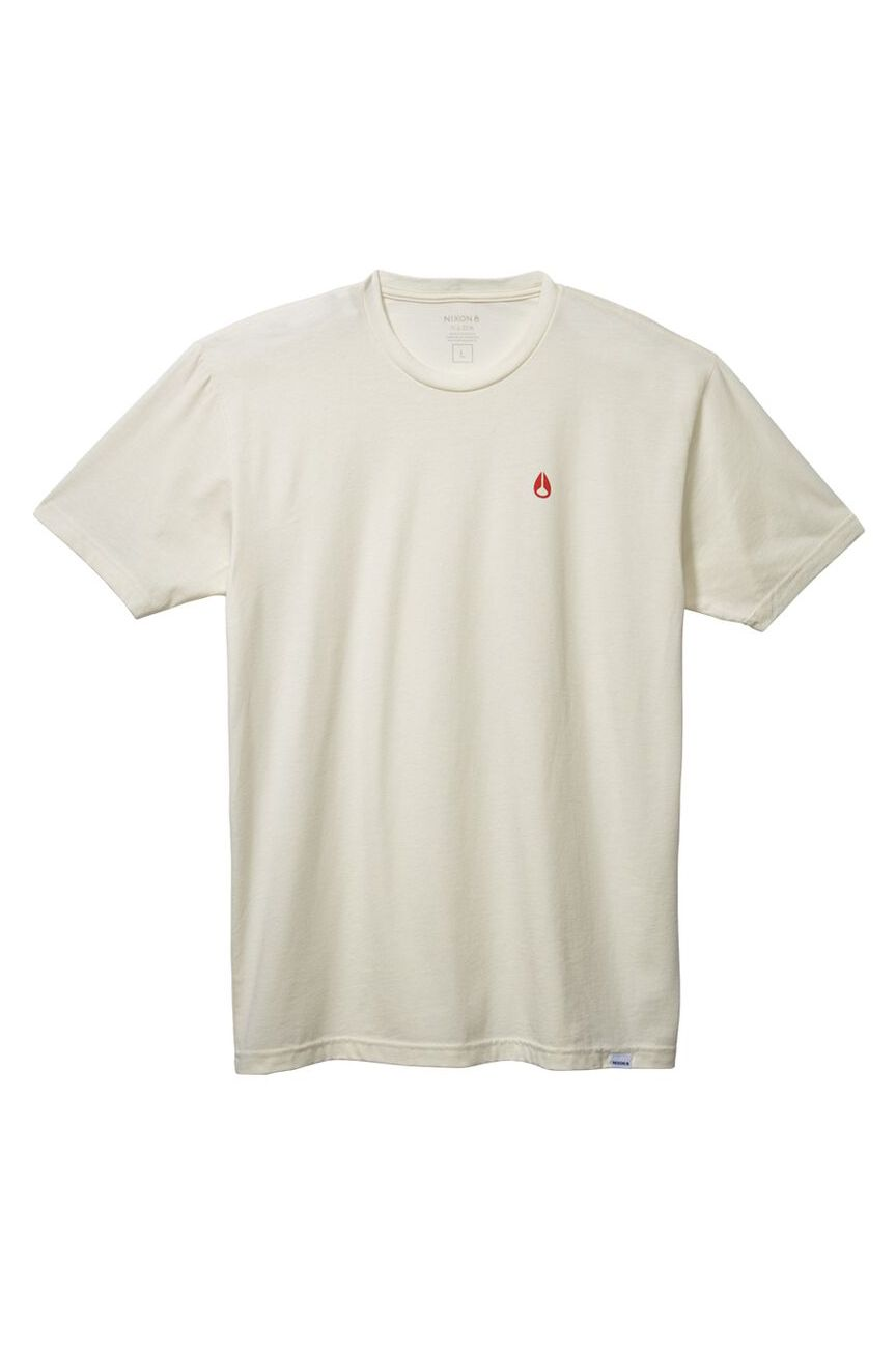 Nixon T-Shirt SPARROW - R S/S TEE Natural/Red