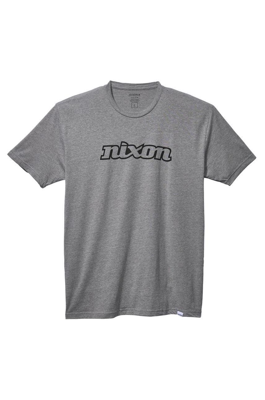 Nixon T-Shirt OG SCRIPT ECO Dark Heather Gray/Black