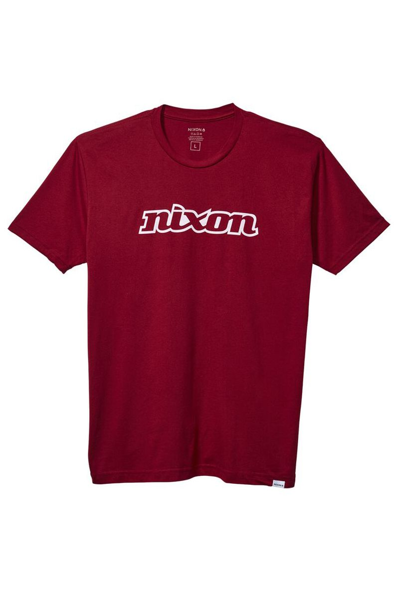 Nixon T-Shirt OG SCRIPT ECO Cardinal/White