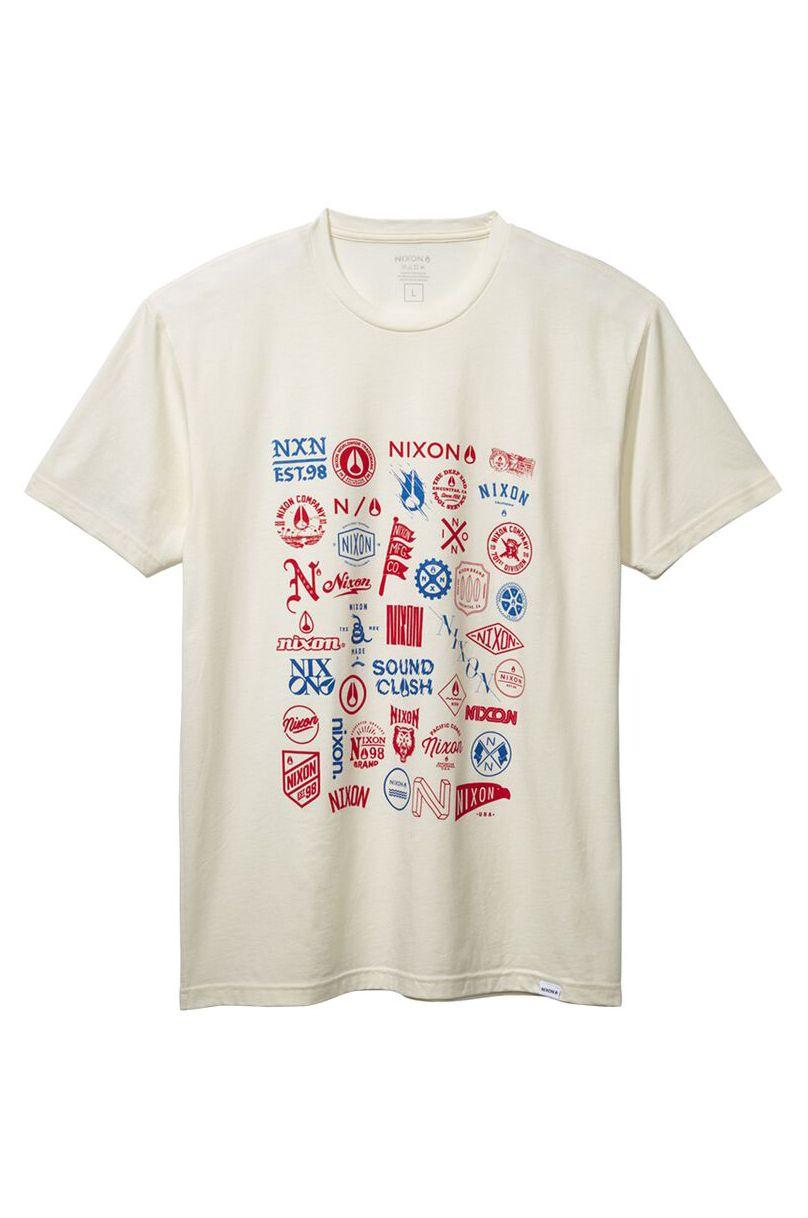 Nixon T-Shirt COLLECTOR S/S TEE Natural/Multi
