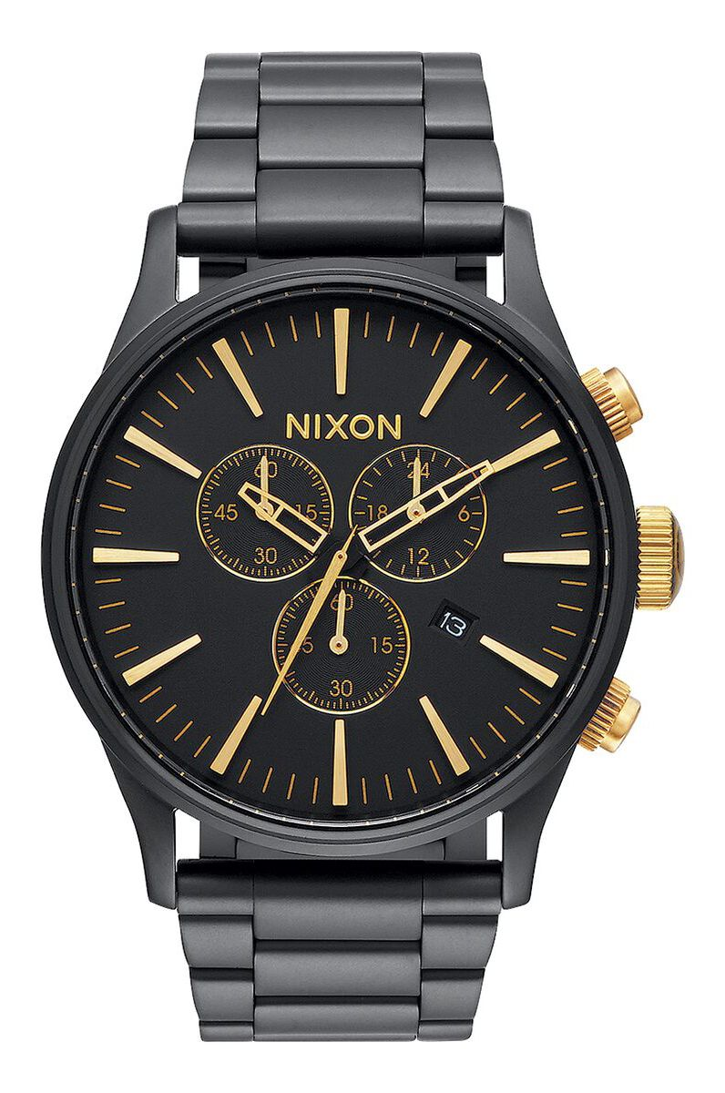 Nixon Watch SENTRY CHRONO Matte Black/Gold