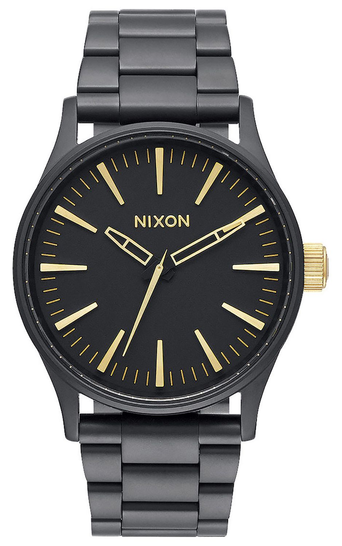 Relogio Nixon SENTRY 38 SS Matte Black/Gold