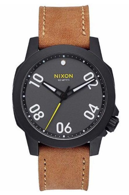 Relogio Nixon RANGER 40 LEATHER Black/Gunmetal/Natural