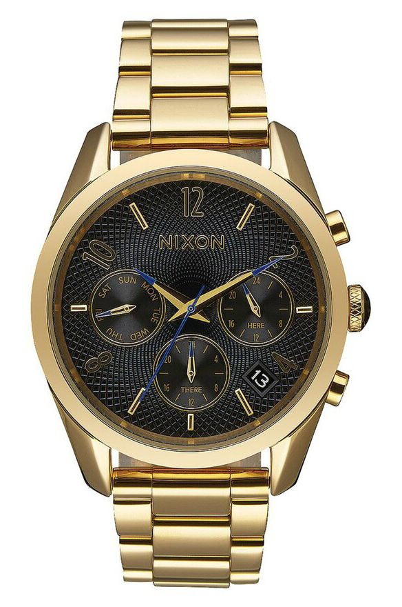 Relogio Nixon C45 SS All Gold/Black