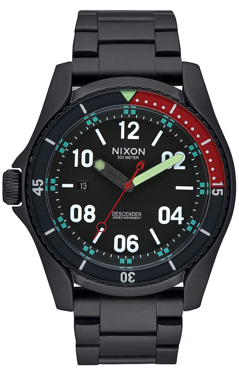 Relogio Nixon DESCENDER All Black/Multi