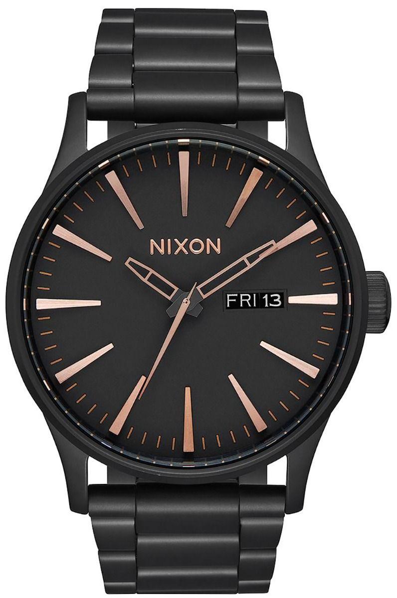 Nixon Watch SENTRY SS All Black/Rose Gold