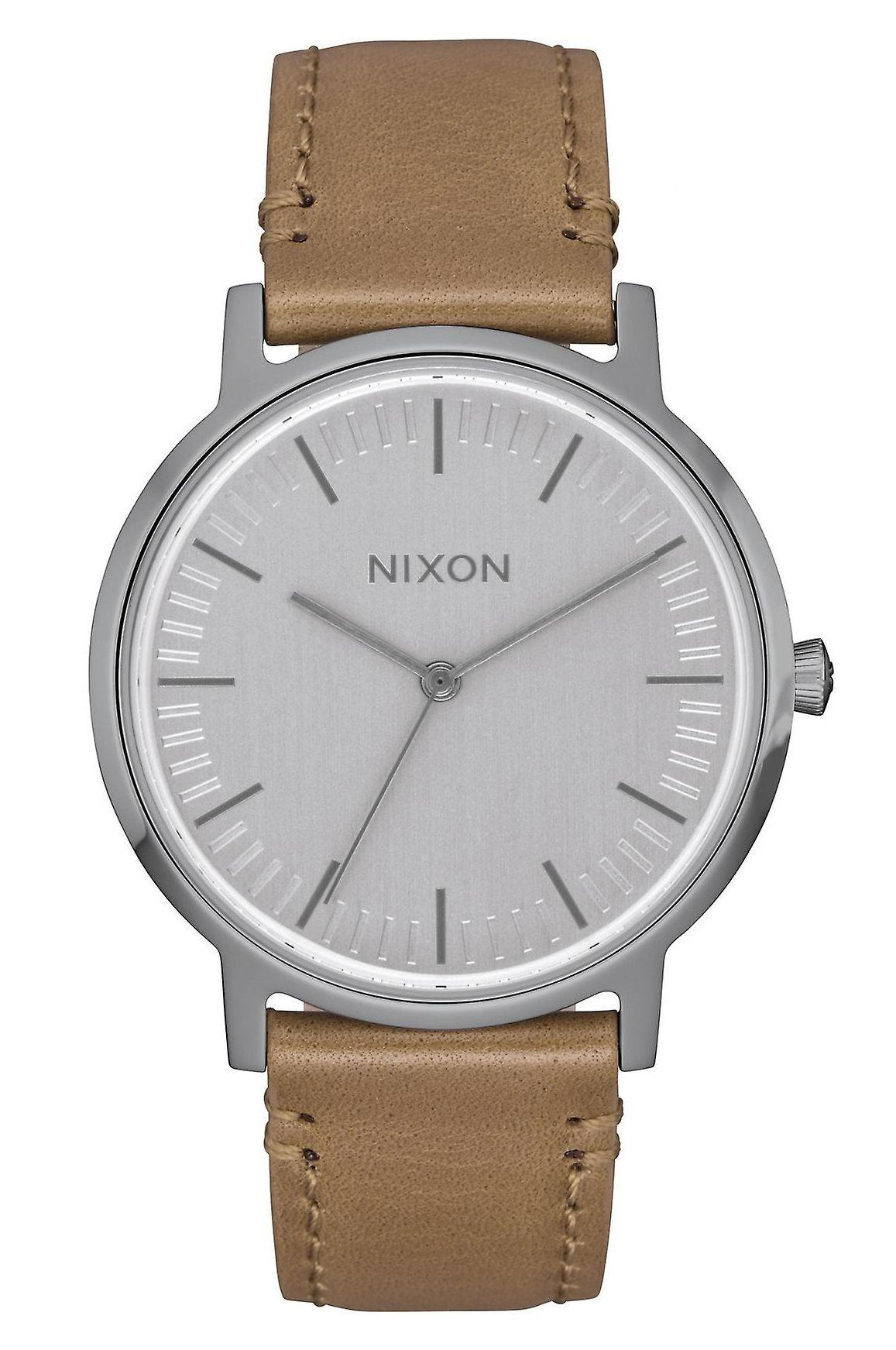Relogio Nixon Porter 35 Leather Gunmetal/Taupe