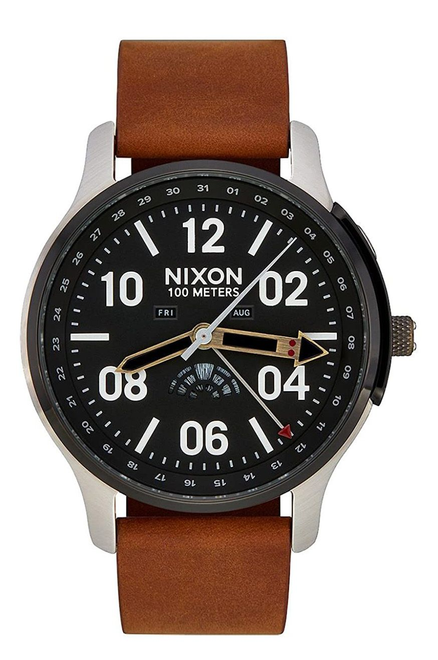 Relogio Nixon ASCENDER LEATHER SW Black/Carbon