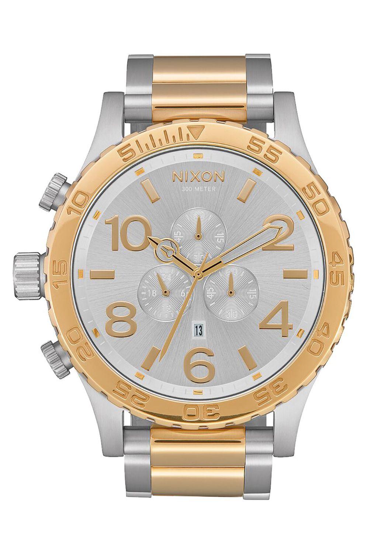 Nixon Watch 51-30 CHRONO Silver/Gold