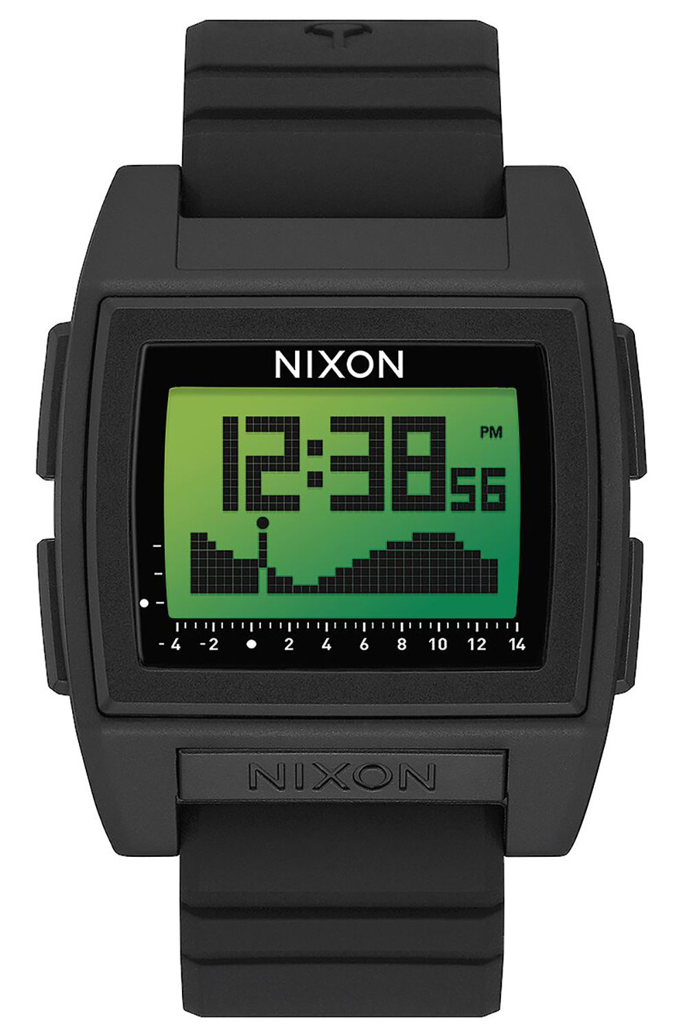 Relogio Nixon BASE TIDE PRO Black/Green Positive