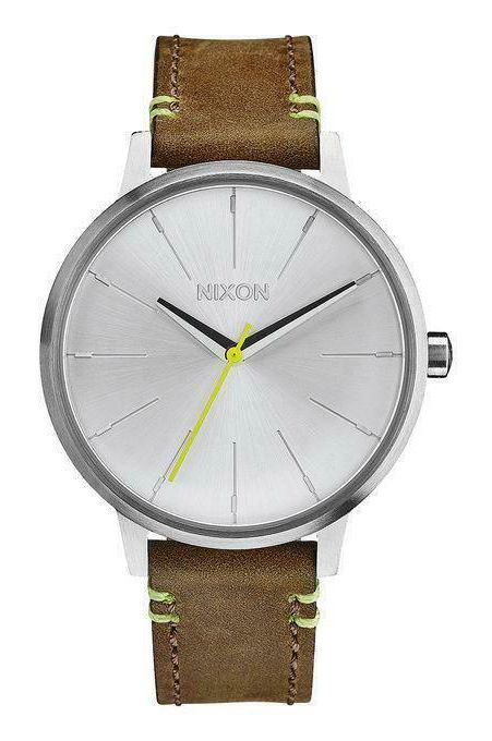 Relogio Nixon KENSINGTON LEATHER Brown/Lime