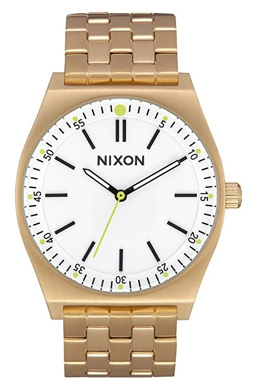 Relogio Nixon Crew All Gold/White