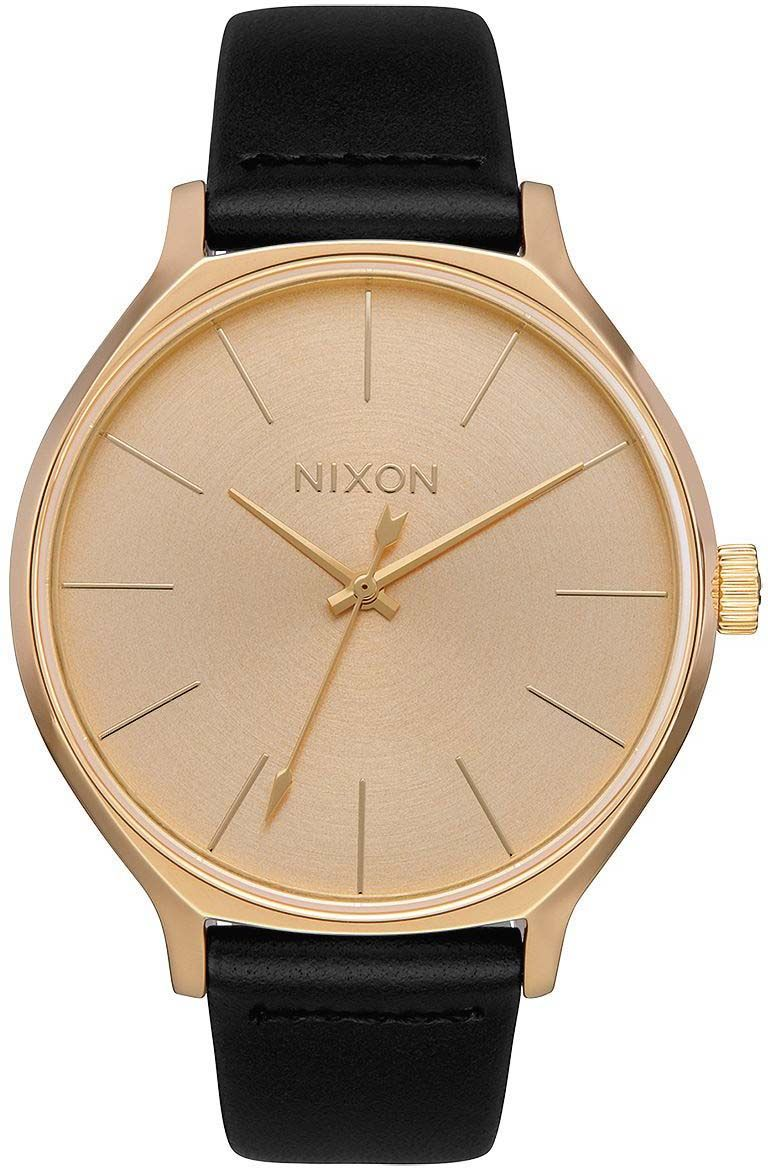 Nixon Watch CLIQUE LEATHER All Gold/Black