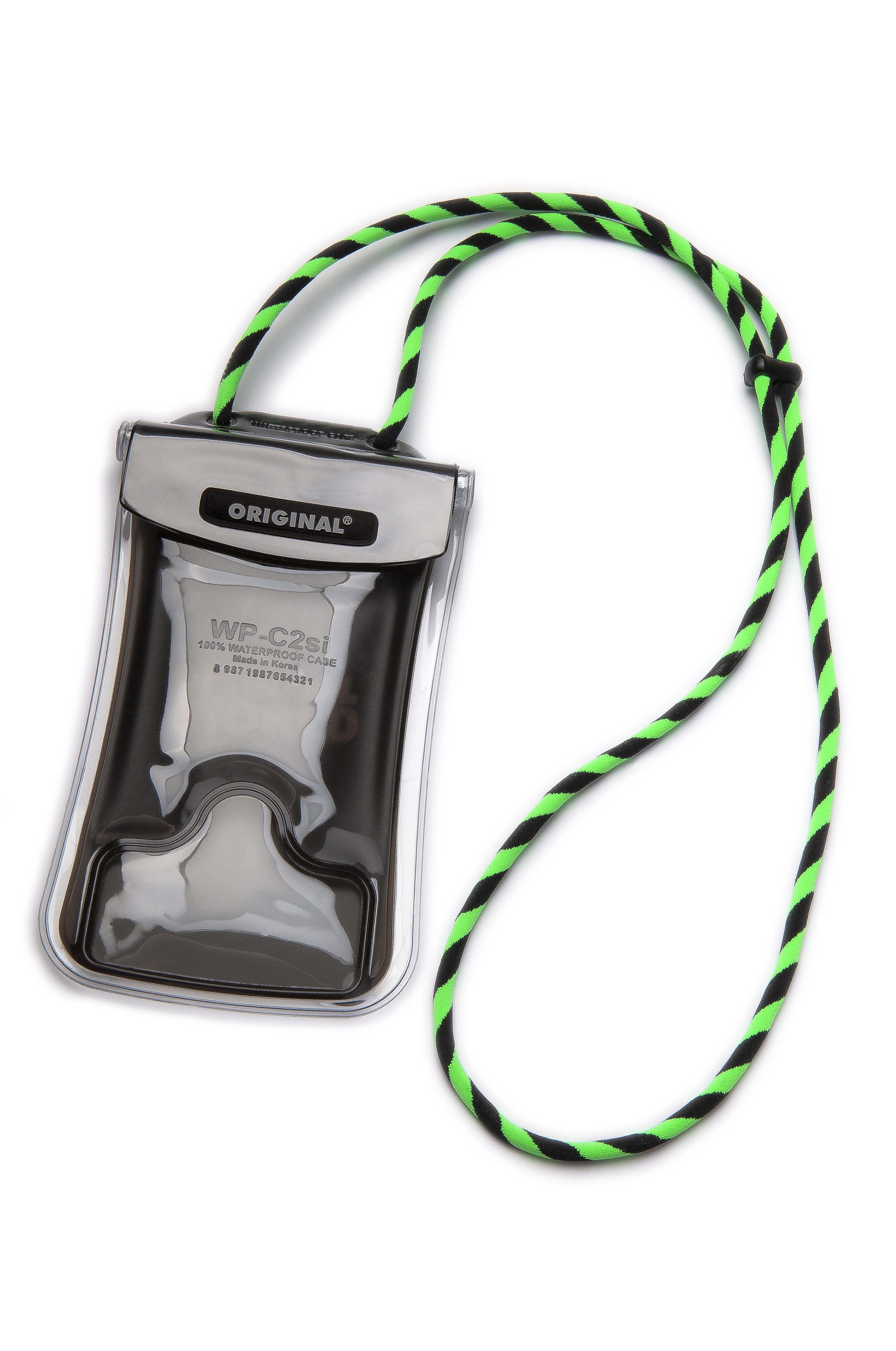 Porta-chaves Original Lanyards SURFIE PRO XL CLEAR Hexachrome Green/Black