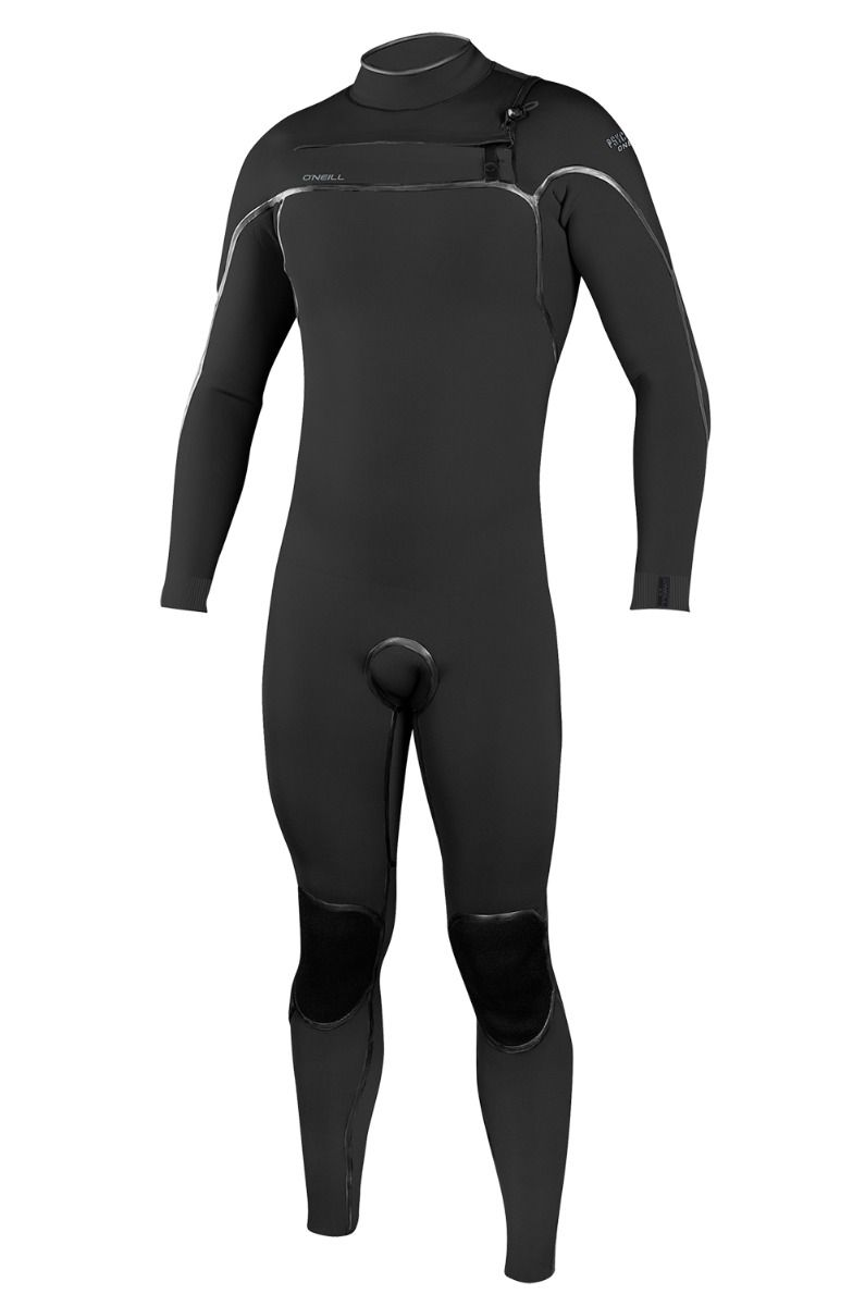 O'Neill Wetsuit PSYCHO ONE 4/3 CHEST ZIP FULL Black/Black 4x3mm