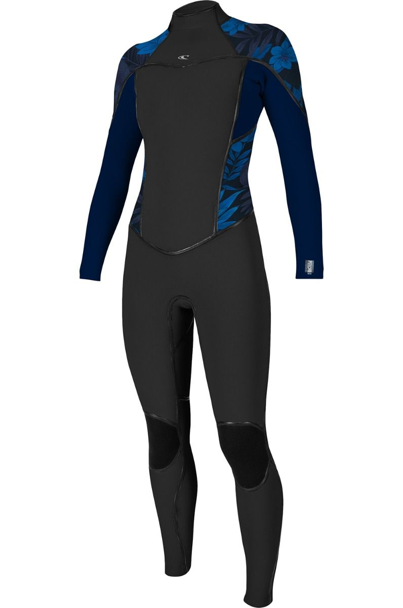 O'Neill Wetsuit PSYCHO ONE 4/3 BACK ZIP FULL Black/Abyss/Blue Faro 4x3mm