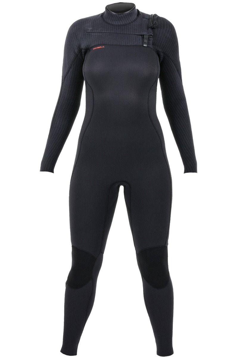 O'Neill Wetsuit HYPERFREAK 5/4 + CHEST ZIP Black/Black 5x4mm