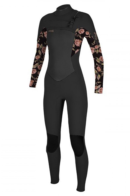 O'Neill Wetsuit WMS EPIC 4/3 CHEST ZIP FULL Black/Flo 4x3mm