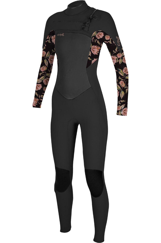 O'Neill Wetsuit WMS EPIC 5/4 CHEST ZIP FULL Black/Flo 5x4mm
