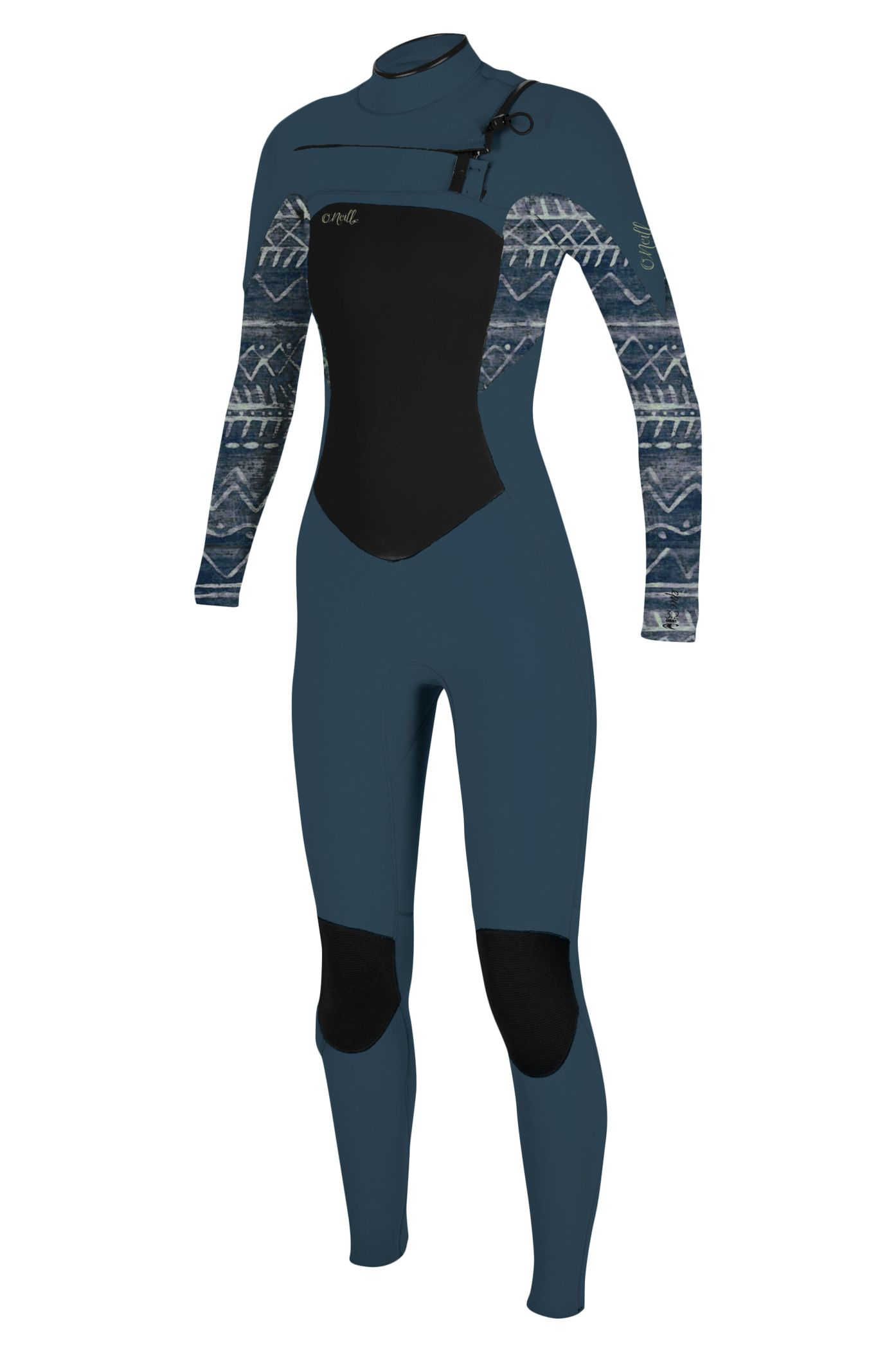 O'Neill Wetsuit WMS EPIC 4/3 CHEST ZIP FULL Shade/Bungalowstripe 4x3mm