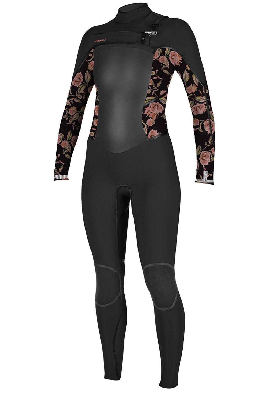 O'Neill Wetsuit GIRLS EPIC 4/3 CHEST ZIP FULL Black/Flo 4x3mm