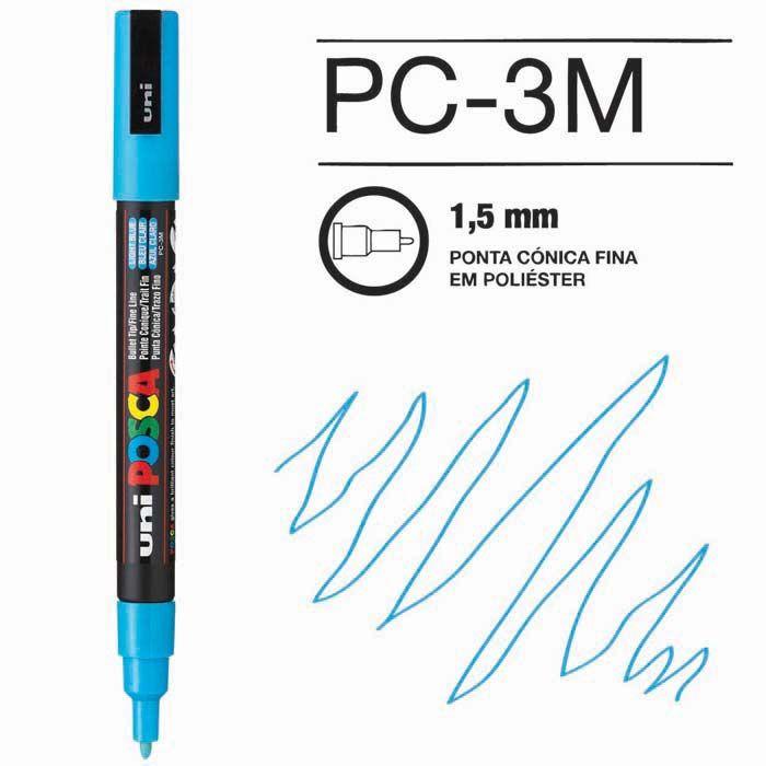 Canetas/Tintas Posca 3M Azul Claro