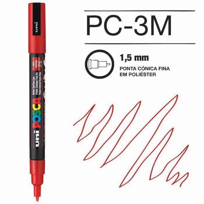 Canetas/Tintas Posca 3M Vermelho