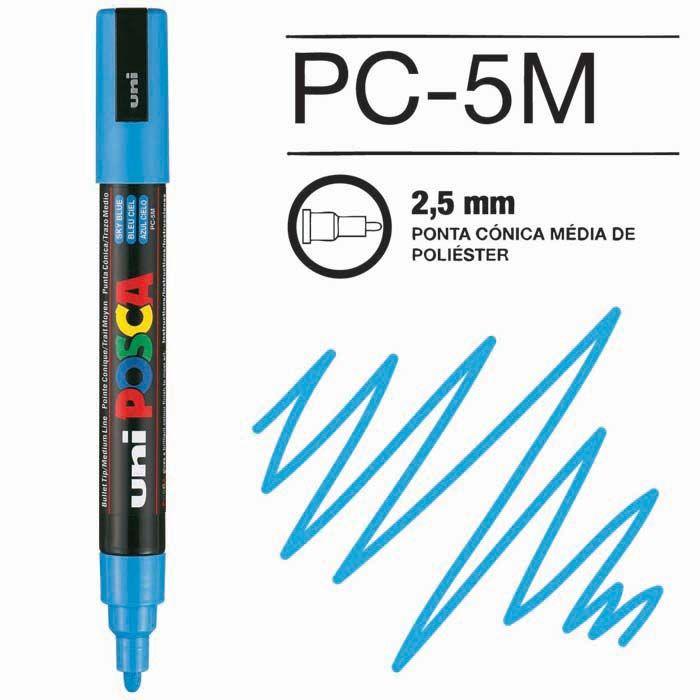 Canetas/Tintas Posca 5M Azul Claro