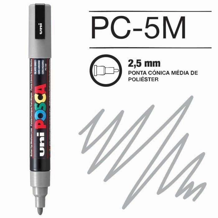Canetas/Tintas Posca 5M Cinza
