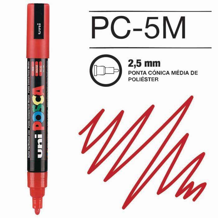 Canetas/Tintas Posca 5M Vermelho